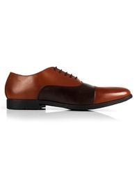 Tan and Brown Toecap Oxford main shoe image