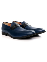 Dark Blue and Black Apron Halfstrap Slipon alternate shoe image