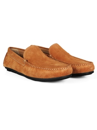 Beige Plain Apron Moccasins alternate shoe image