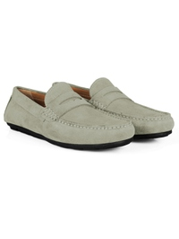 Gray Penny Loafer Moccasins alternate shoe image