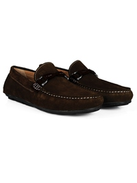 Brown and Brown Buckle Moccasins Leather Shoes alternate shoe image