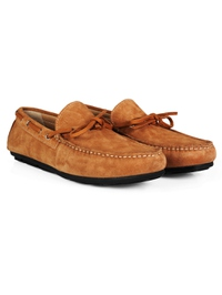 Beige Boat Moccasins Leather Shoes alternate shoe image