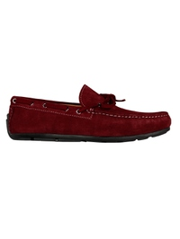 Red Boat Moccasins Leather Shoes main shoe image