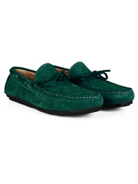 Green Boat Moccasins Leather Shoes alternate shoe image