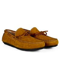 Mustard Boat Moccasins Leather Shoes alternate shoe image