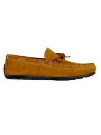 Mustard Boat Moccasins Leather Shoes main shoe image