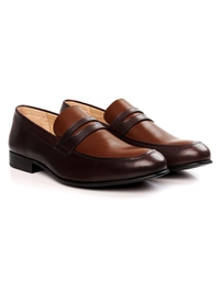 Brown and Coffee Brown Premium Apron Halfstrap Slipon alternate shoe image
