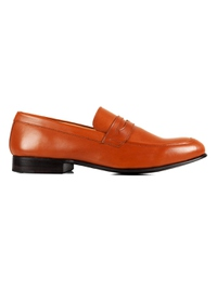 Tan Premium Apron Halfstrap Slipon main shoe image