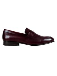Burgundy Premium Apron Halfstrap Slipon main shoe image