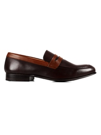 Brown and Coffee Brown Premium Apron Halfstrap Slipon main shoe image