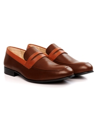 Coffee Brown and Tan Premium Apron Halfstrap Slipon alternate shoe image