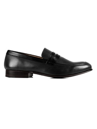 Gray and Black Premium Apron Halfstrap Slipon main shoe image