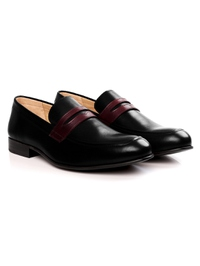 Black and Burgundy Premium Apron Halfstrap Slipon alternate shoe image