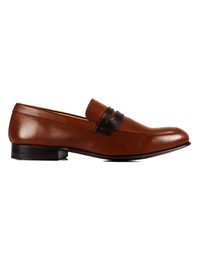 Coffee Brown and Brown Premium Apron Halfstrap Slipon main shoe image