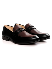 Black and Brown Premium Apron Halfstrap Slipon alternate shoe image