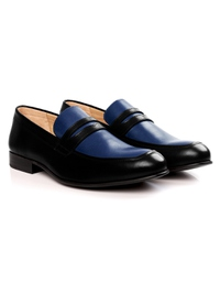 Black and Dark Blue Premium Apron Halfstrap Slipon alternate shoe image