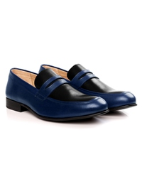 Dark Blue and Black Premium Apron Halfstrap Slipon alternate shoe image