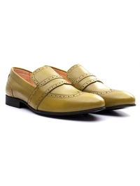 Beige Premium Wingcap Slipon alternate shoe image