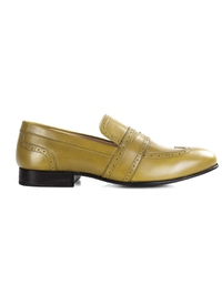 Beige Premium Wingcap Slipon main shoe image