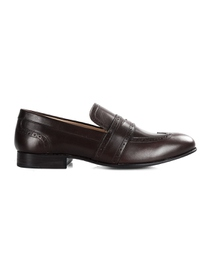 Brown Premium Wingcap Slipon main shoe image