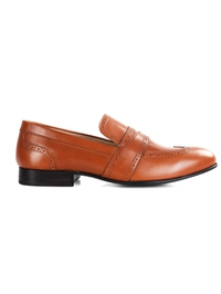 Tan Premium Wingcap Slipon main shoe image