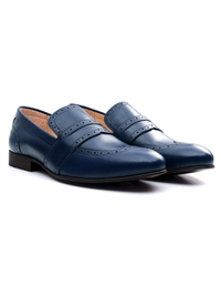 Dark Blue Premium Wingcap Slipon alternate shoe image
