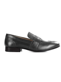 Gray Premium Wingcap Slipon main shoe image