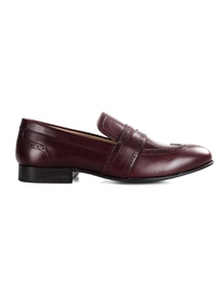 Burgundy Premium Wingcap Slipon main shoe image