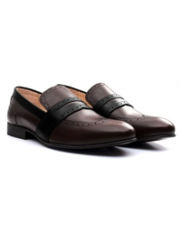 Brown and Black Premium Wingcap Slipon alternate shoe image