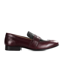Burgundy and Black Premium Wingcap Slipon main shoe image