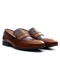 Coffee Brown and Brown Premium Wingcap Slipon alternate shoe image