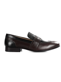 Brown and Black Premium Wingcap Slipon main shoe image