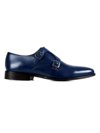 Dark Blue Premium Double Strap Monk main shoe image
