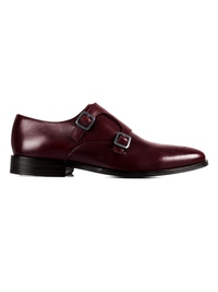 Burgundy Premium Double Strap Monk main shoe image
