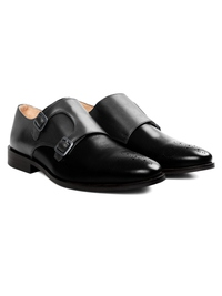 Gray and Black Premium Double Strap Monk alternate shoe image