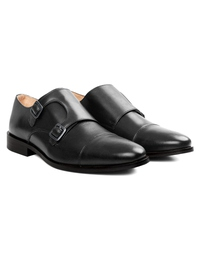 Gray Premium Double Strap Toecap Monk alternate shoe image