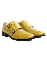 Beige Premium Double Strap Toecap Monk alternate shoe image