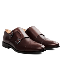 Brown Premium Double Strap Toecap Monk alternate shoe image
