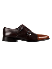 same color Double Strap Toecap Monk shoe image