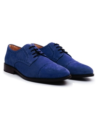 Navy Premium Half Brogue Derby alternate shoe image