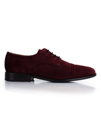 Burgundy Premium Half Brogue Derby main shoe image