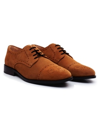 Beige Premium Half Brogue Derby alternate shoe image