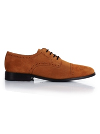 Beige Premium Half Brogue Derby main shoe image