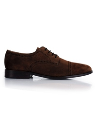 Brown Premium Half Brogue Derby main shoe image