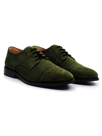 Dark Green Premium Half Brogue Derby alternate shoe image