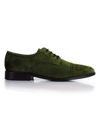 Dark Green Premium Half Brogue Derby main shoe image