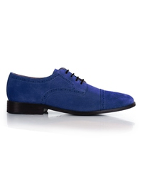 Navy Premium Half Brogue Derby main shoe image