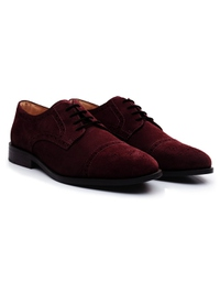 Burgundy Premium Half Brogue Derby alternate shoe image