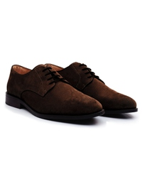Brown Premium Plain Derby alternate shoe image