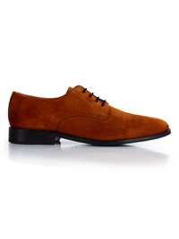 Tan Premium Plain Derby main shoe image